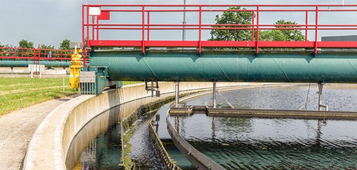 municipal water treatment process